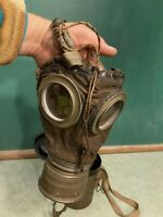 WW1 WWI World War I German M1917 Leather Gas Mask With Filter Lederschutzmaske