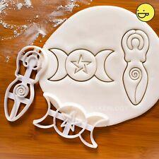 Triple & Spiral Goddess cookie cutters | neopagan woman wicca Wiccan pagan deity