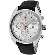 New Emporio Armani Chronograph Date Black Leather Men Dress Watch 43mm AR5911