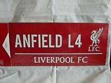 Liverpool FC ( Anfield L4 ) Street Sign, 18cm x 40cm