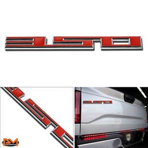 """350"" Polished Metal 3D Decal Red&Silver Emblem For Chevrolet/Isuzu/Pontiac"