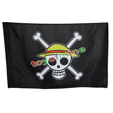 One Piece Going Merry Flag Straw Hat Skull Pirate Logo Monkey·D·Luffy Cosplay