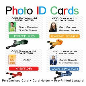 Photo ID Card | First Aid | Event Staff | Visitor | Contractor | Identity Card