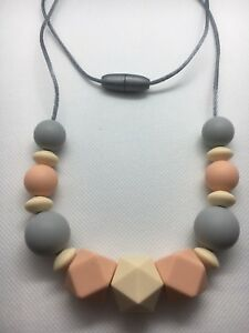 Silicone Necklace for Mum Jewellery Beads Aus Gift was Teething) Nursing Gift