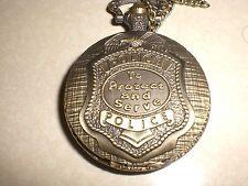 "Police Department Pocket Watch ""Protect..."" Commemorative Quartz Pocket Watch"