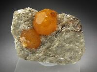Orange Spessartine Garnet Crystals, Loliondo, Tanzania