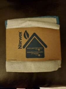 Norwex Body And Face 3 Pack Washcloth Microfiber Costal Gray Blue Ivory