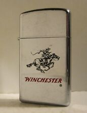 1981 SLIM ADVERTISING ZIPPO WINCHESTER RIFLES REPEATING ARMS FIREARMS