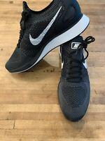Nike Air Zoom Mariah Flyknit Racer Mens 918264-001 Black Running Shoes Size 10.5