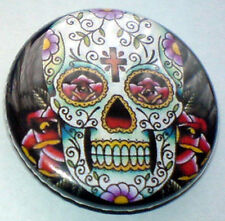 Tattoo Skull 25mm Pin Badge Punk/Goth/Metal/Alt - SKT1