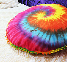 Decorative Round mandala pillow Handmade couch cover pillow bohemian throw