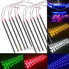 18X Waterproof 12''/15 DC 12V Motor LED Strip Underbody Light For Car Motorcycle