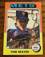 1975 Topps #370 Tom Seaver - Print spot on sleeve - Rare- Mets