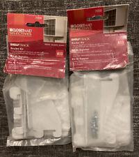 Armario Maid 7039 Blanco Paquete de estantes de pista Soporte Kit-2