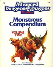 MC2 MONSTROUS COMPENDIUM VOLUME TWO 2103 EXC+! AD&D D&D TSR Monster Manual