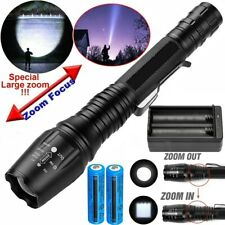 990000Lumens LED Rechargeable Flashlight Police Tactical T6 Torch Lamp Zoomable