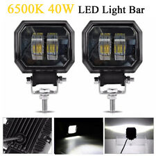 2X 3 Inch 6500K 40W CREE White LED Light Bar Offroad Work Lamp for SUV Truck ATV