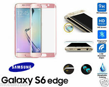 Samsung Galaxy S6 Edge 3D Curved ROSE GOLD Tempered LCD Glass Screen Protector