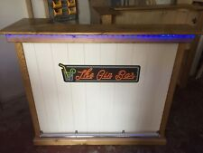 Man cave /lady cave home gin bar fitted lighting towel rail and bottle opener