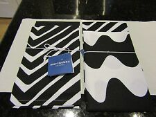 Marimekko for Target Kitchen Towels 2 ct Traktori & Lokki Print Black White NEW