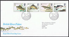 British River Fishes 1983 First Day Cover - Stamps SG1207 to SG1210 Edinburgh
