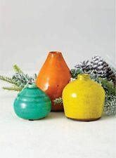 Small Ceramic Vase Set of 3