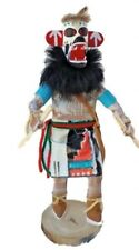 Kachina Hopi Carved Wood Doll Sculpture Hano Bear Signed Navajo American
