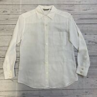 TOMMY BAHAMA Women's White Button Up Long Sleeve Shirt Size Small