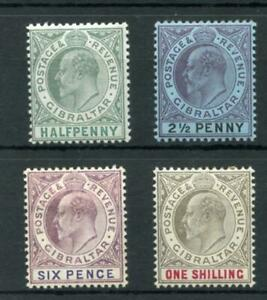 Gibraltar 1903 values to 1s fine MM cat £93