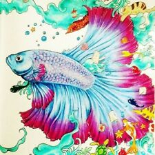 5D Full Drill Diamond Painting Embroidery Colorful fish Stitch Kits Home Decor