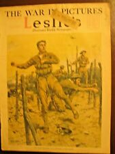 Leslie's Weekly Mag, Aug. 16, 1917 – US Marines in France. Blimps in WW I