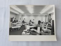 Vintage 1970s Photo Photograph Image -  Office Workers with IBM Typewriters