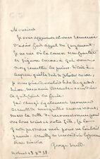 George SAND Lettre autographe signée à E. Cabasson.1858. Affaire Breuillard.