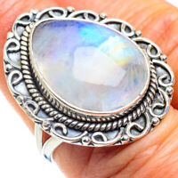Rainbow Moonstone 925 Sterling Silver Ring Size 7.25 Ana Co Jewelry R57853F