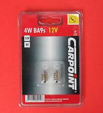 1 x Pack of 2 T4W 233 12V 4W Replacement Clear Bulbs for Side/Interior Light NEW