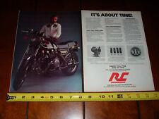1980 KAWASAKI KZ1000 TURBOCHARGED RC ENGINEERING - ORIGINAL 2 PAGE AD KZ-1000