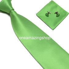 Woven Silk Hand Made Tie Cufflinks and Handkerchief Gift Set Hanky Wedding Party