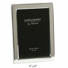 SILVER PLATED FLAT EDGE PICTURE PHOTO FRAME IN SIZE - 6X4 5X7 6X8 - BY JULIANA