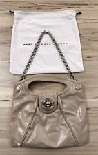 Marc by Marc Jacobs Beige Nude Patent Leather Small Clutch w/ Removable Chain