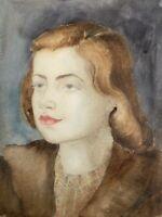 Charlotte Zurek 1910-1971 Ritratto Giovane Donna Bambina 30er Nuovo