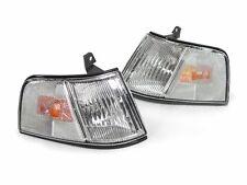 DEPO Chrome / Amber Clear Lens Corner Lights for 1990-1991 Honda Civic 4DR Sedan