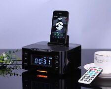 NFC Alarm Clock Charging Dock Wireless Bluetooth Speaker for iPhone 6 6s 7 Plus