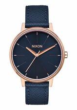 Nixon Kensington Leather Watch / Navy Rose Gold / A108-2195 / A108 2195