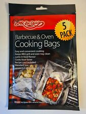Bar-be-quick barbecue & easy oven cooking bags 2 portion food cook bbq 5 pack