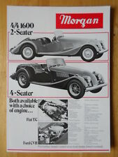 Morgan 4/4 1600 y Plus 8 Orig 1980s Reino Unido prospecto Folleto de ventas de MKT