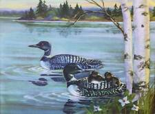 1950s print Northern Loons Joan Pripps