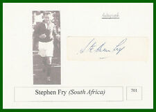 STEPHEN FRY SOUTH AFRICA SIGNED RUGBY PHOTO CARD