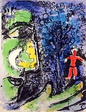 Marc Chagall - Profile and Red Child (M.284) - Original Mourlot Color Lithograph