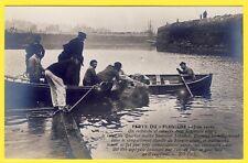 cpa RARE 62 CALAIS Catastrophe du PLUVIOSE en 1910 Repéchage du CORPS d'un MARIN