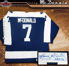 LANNY McDONALD Signed Blue CCM Vintage Jersey - Toronto Maple Leafs